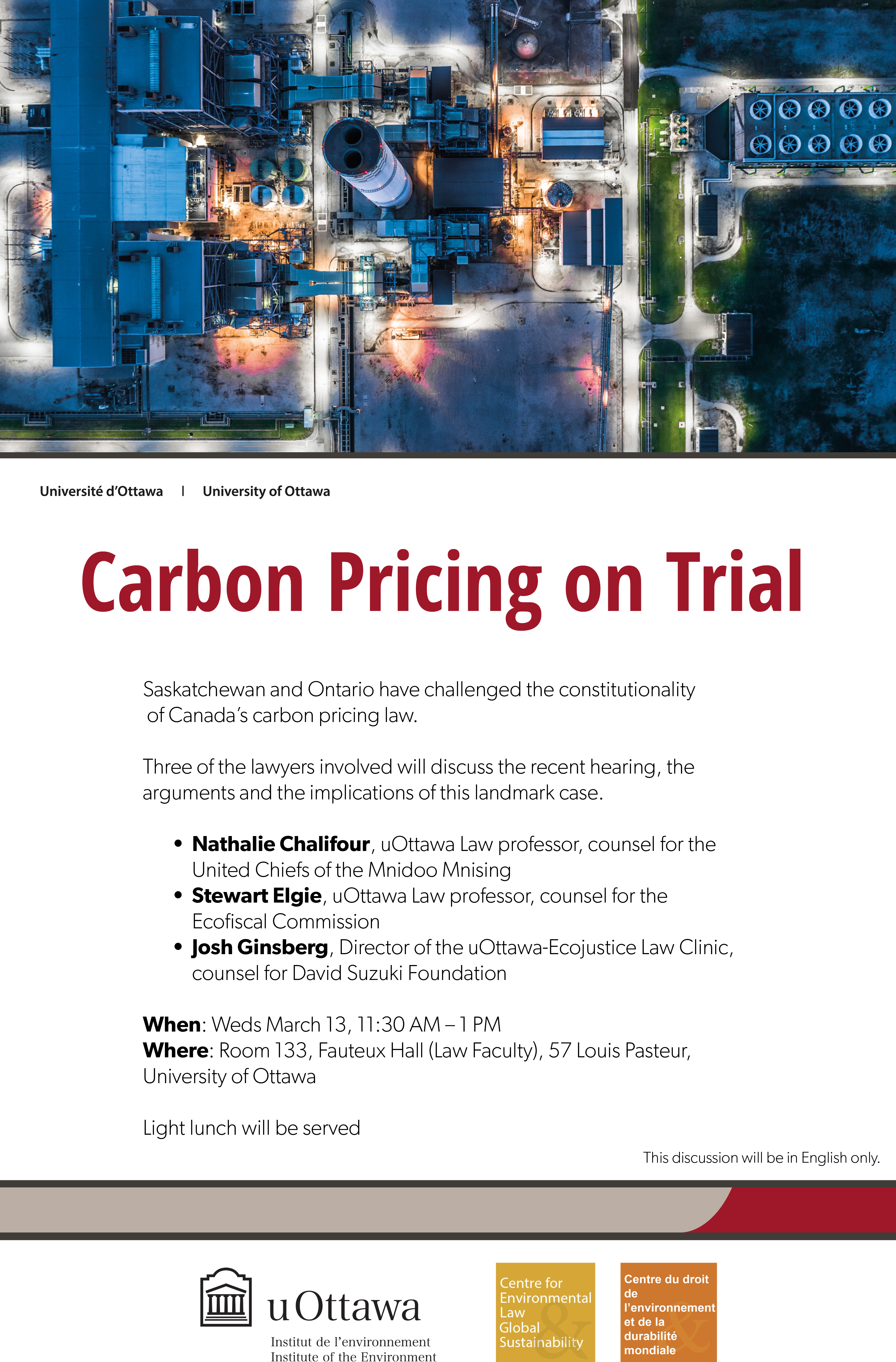"Affiche ""Carbon Pricing on Trial"""