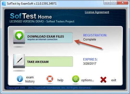 Download Exam Files