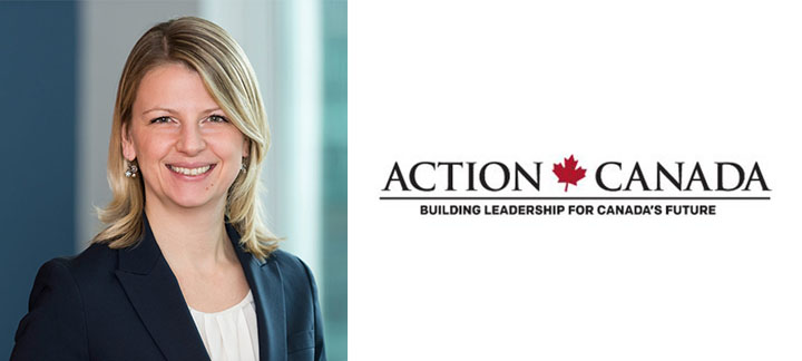 Geneviève Chabot and Action Canada Logo