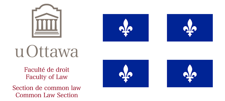 Image of Common Law Logo and Quebec Flag