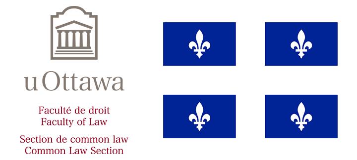 Image du logo de common law et du drapeau du Québec