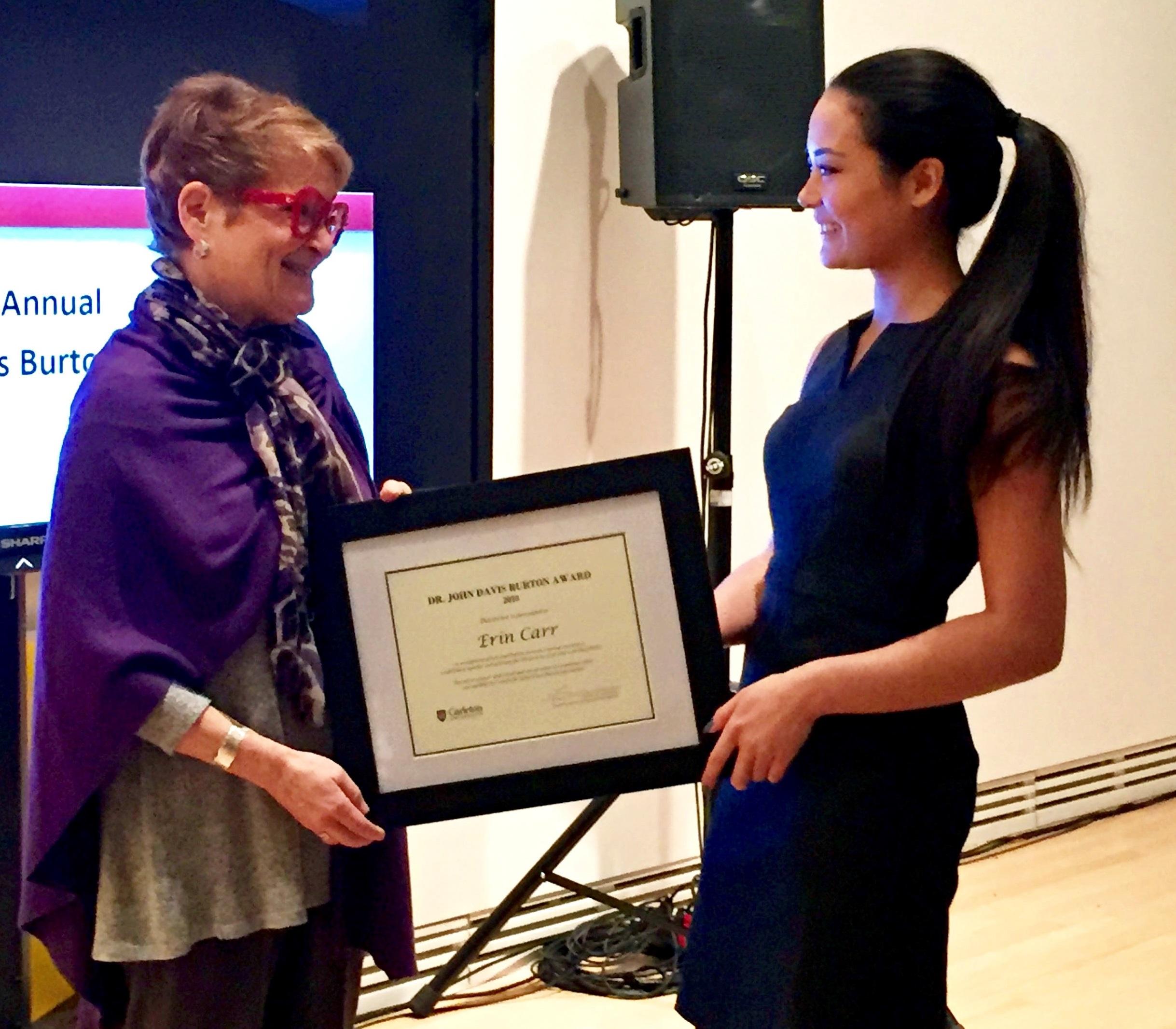 Dr. John Davis Burton Award ceremony