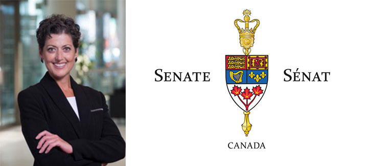 Josée Forest-Niesing and Senate of Canada logo