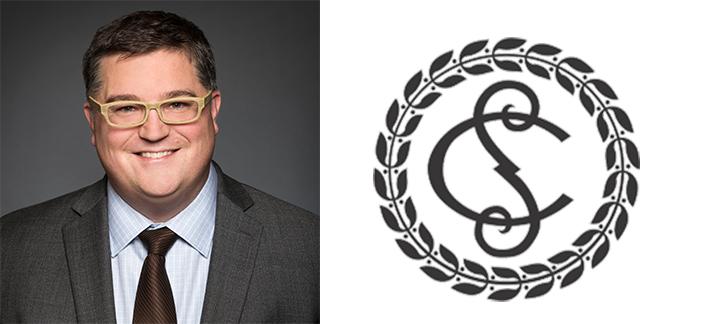 Photo de François Larocque et du logo de la Cour suprême du Canada
