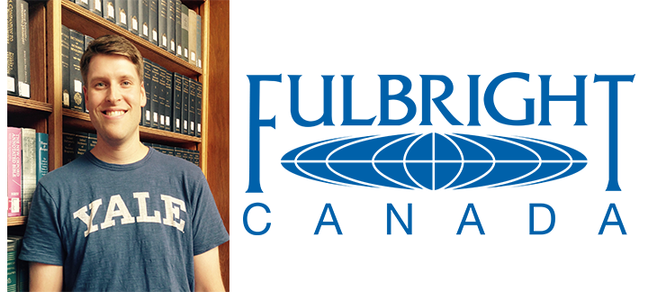 Picture of Brandon Stewart and the Fulbright Canada Logo