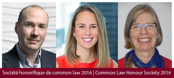 Common Law Honour Society Recipients for 2016
