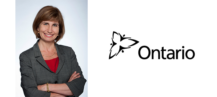 Nathalie Des Rosiers and Ontario Logo