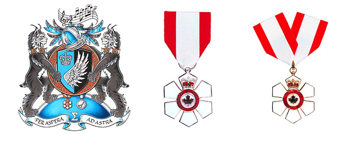 Governor General's Coat of Arms and Order of Canada medals