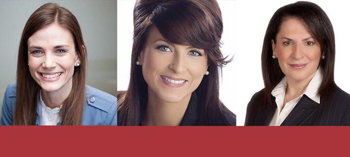 Lindsey Park, Amanda Simard and Effie Triantafilopoulos