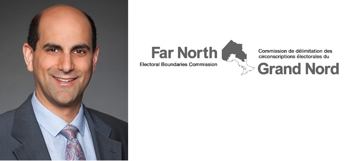 Photo of Michael Pal and the Far North Electoral Boundaries Commission Logo
