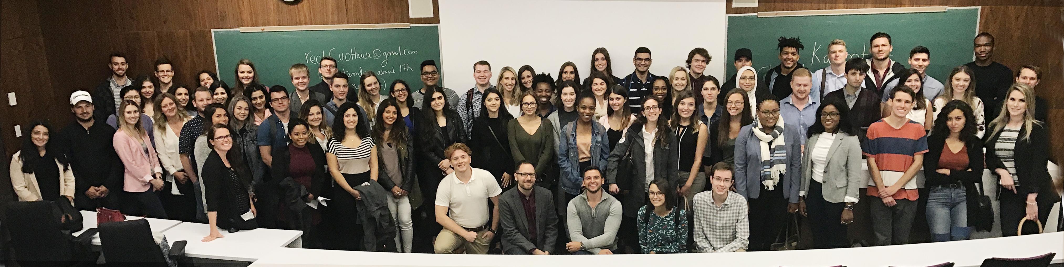 Les étudiants et étudiantes du Programme de common law en français 2017