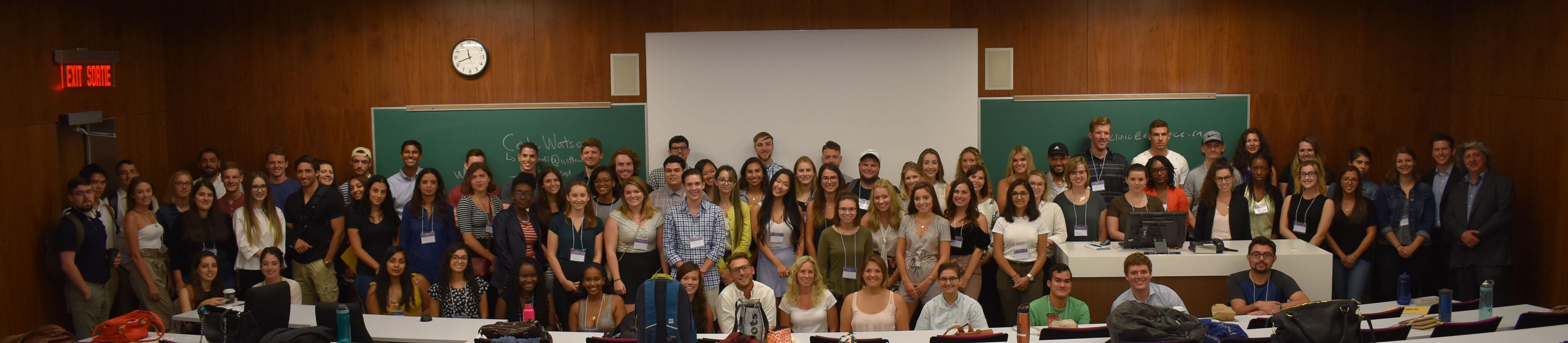 La classe de première année 2018-2019 du Programme de common law en français et du Programme de droit canadien