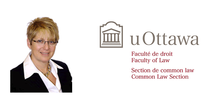 Lynn Rockman and the Faculty of Law logo