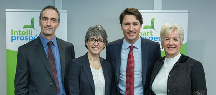 The Smart Prosperity Co-Chairs with the Prime Minister