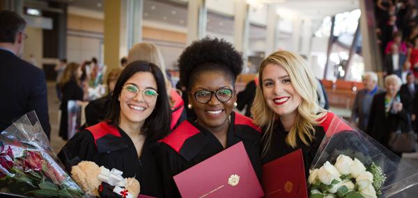 Trois nouveaux diplômées