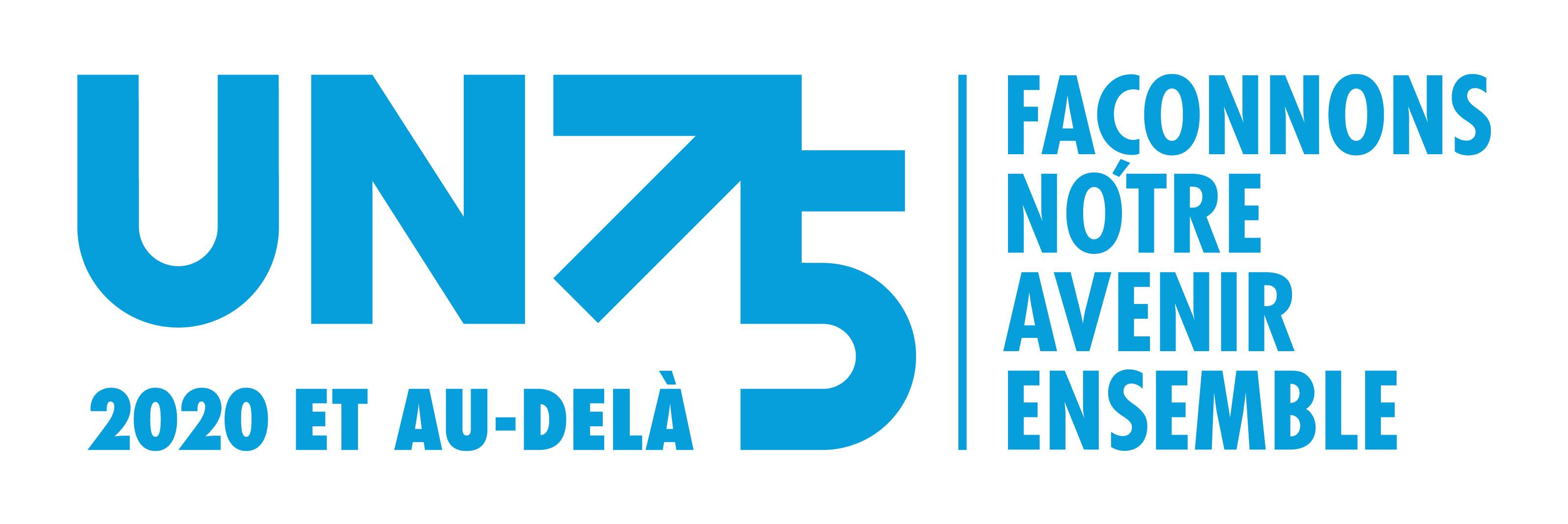 UN 75 2020 et au-delà façonnons notre avenir ensemble