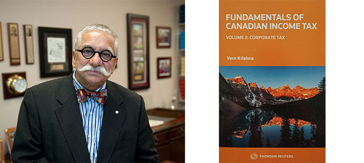 Photo of Vern Krishna and his new book