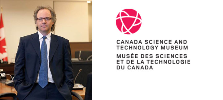 Photo of Michael Geist and the Canana Science and Technology Museum logo