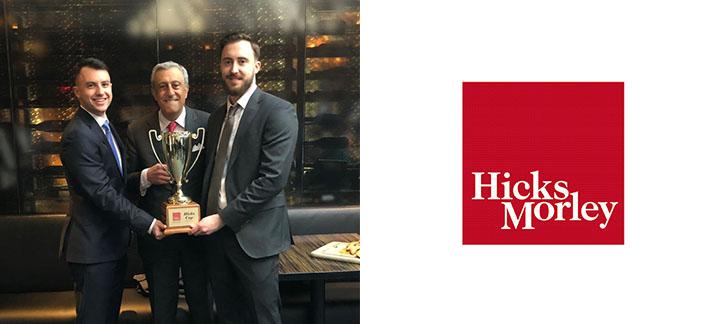 Hicks Morley Moot winners and Hicks Morley Logo