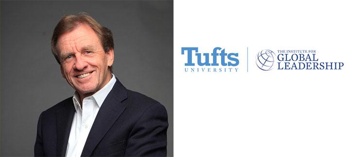 Photo of Allan Rock and Tufts University Logo
