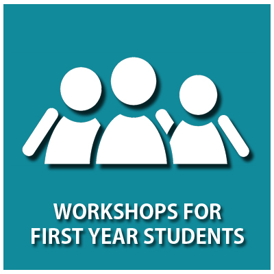 Icon linking to Workshops For First Year Students