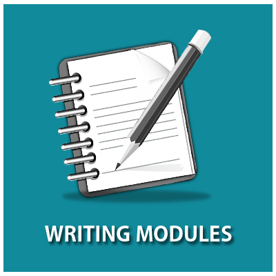 Icon linking to Writing Modules